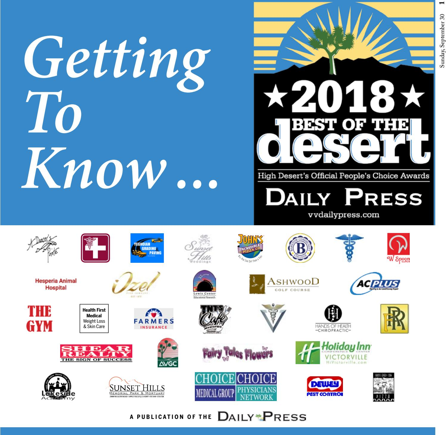 Getting to Know    by High Desert Media Group - issuu