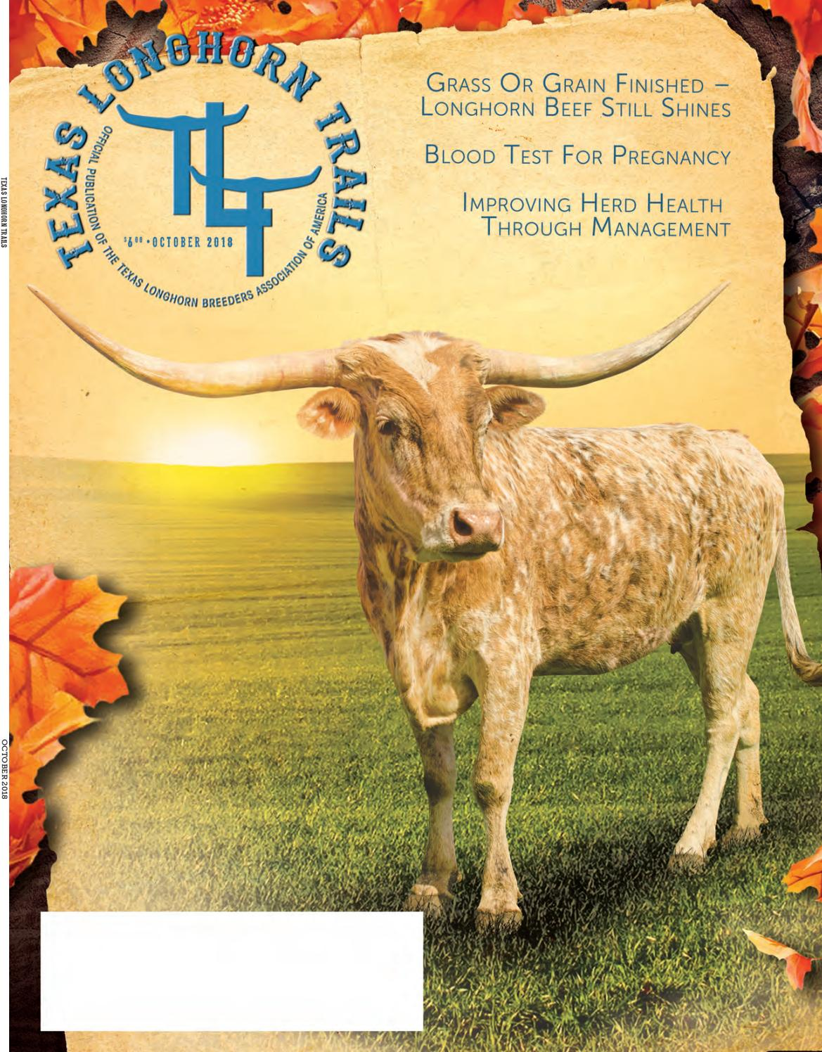 October 2018 Texas Longhorn Trails Magazine by Texas