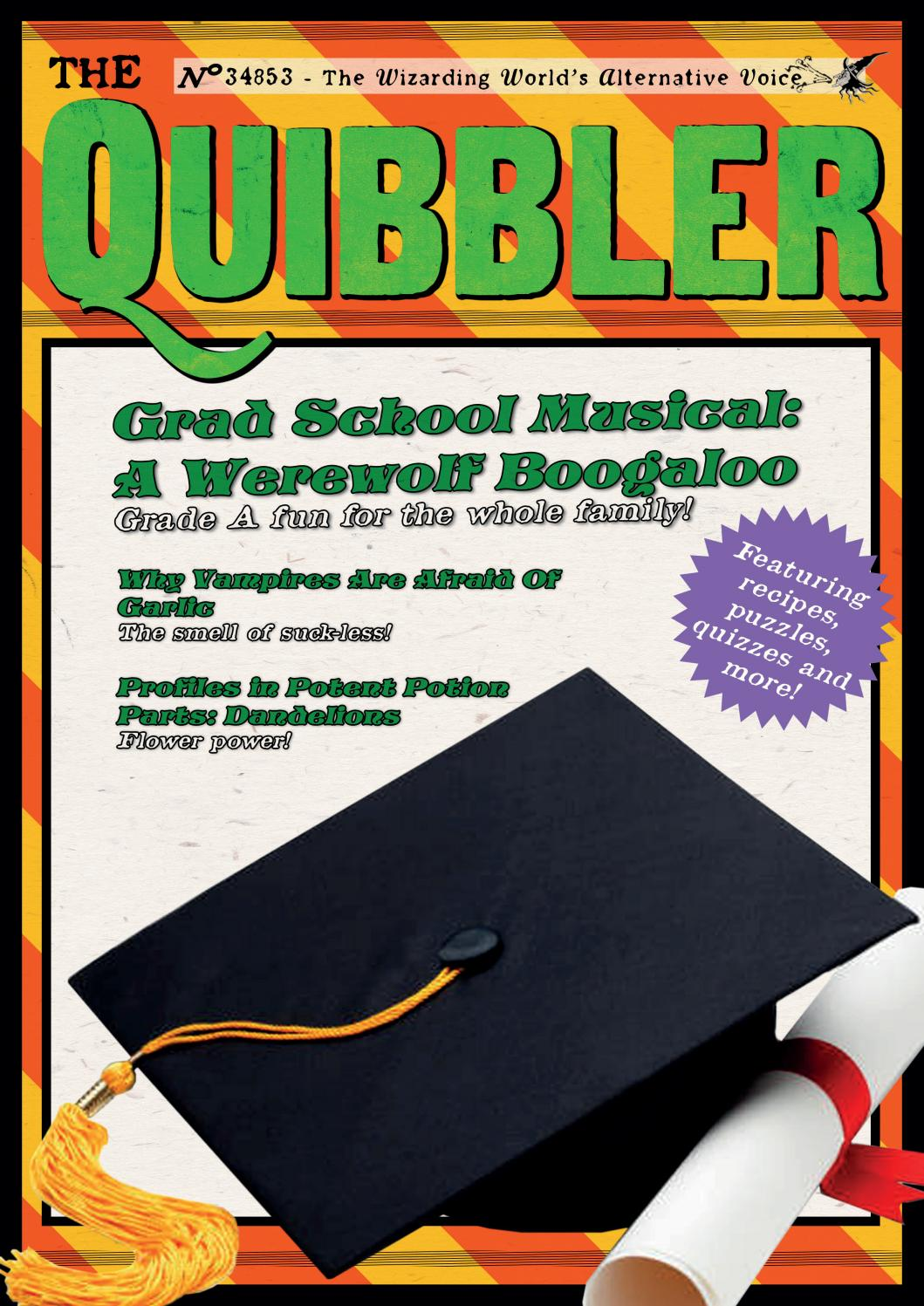 The Quibbler Fall 2018 by Hogwarts Quibbler - issuu on