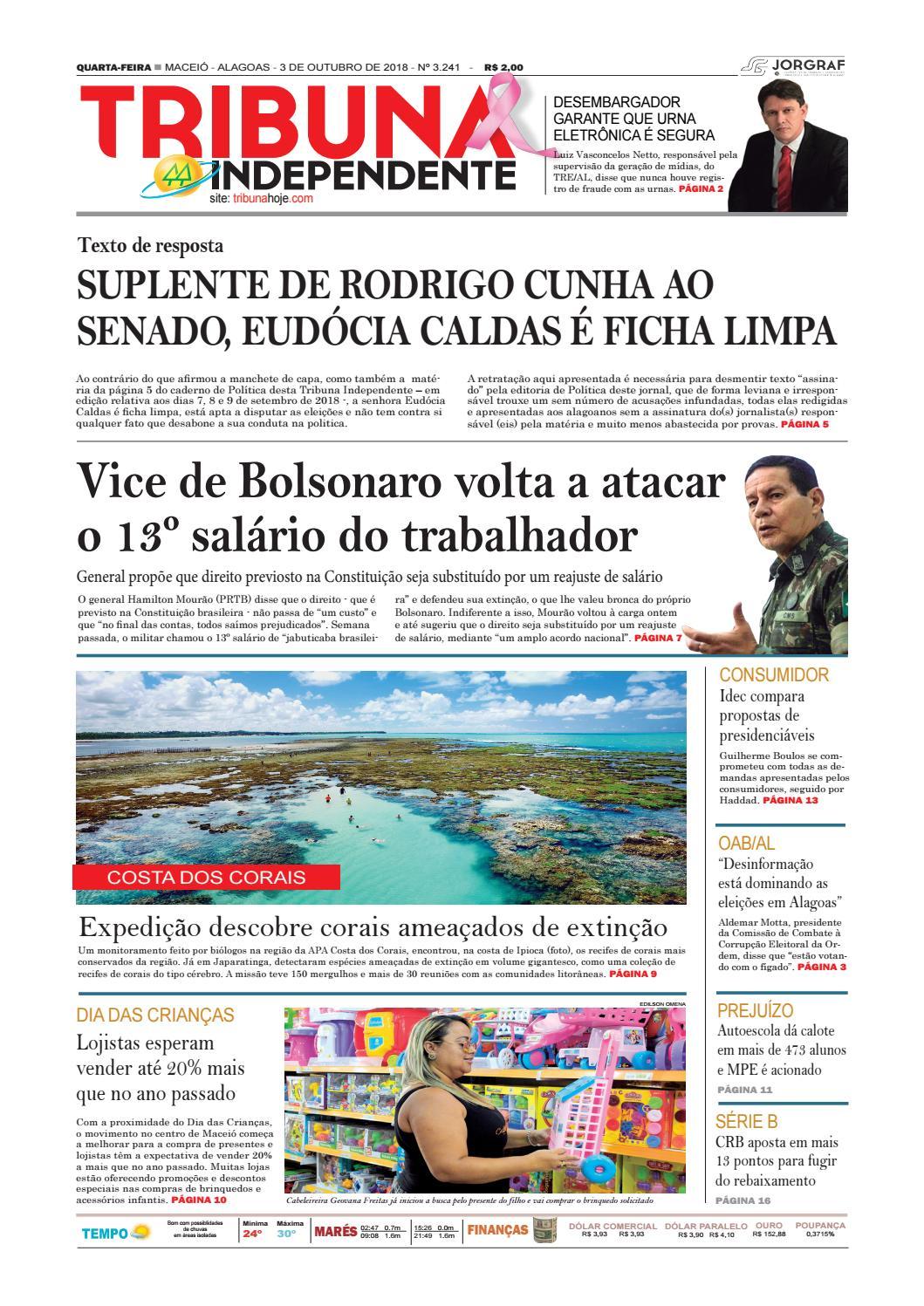 Edição número 3241 - 3 de outubro de 2018 by Tribuna Hoje - issuu 70a8163bb9866