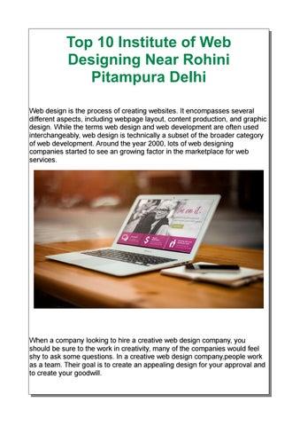 Top 10 Institute of Web Designing Near Rohini Pitampura