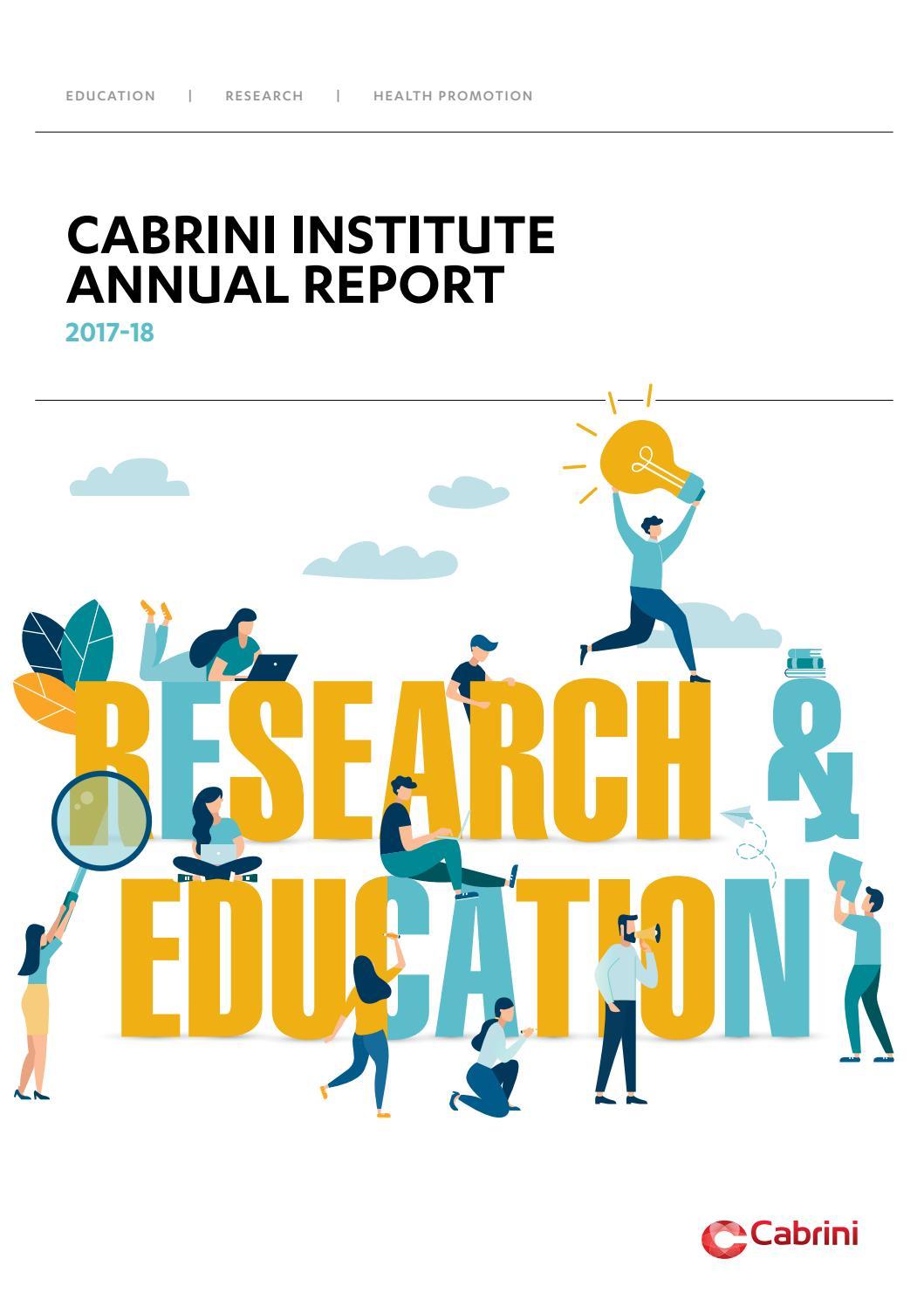 Cabrini institute annual report 2017 18