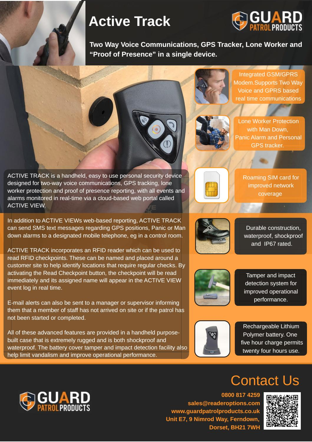 Active Track - Real time Guard Patrol systems by Guard