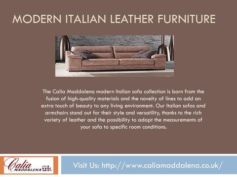 Modern Italian Sofas By Calia Maddalena