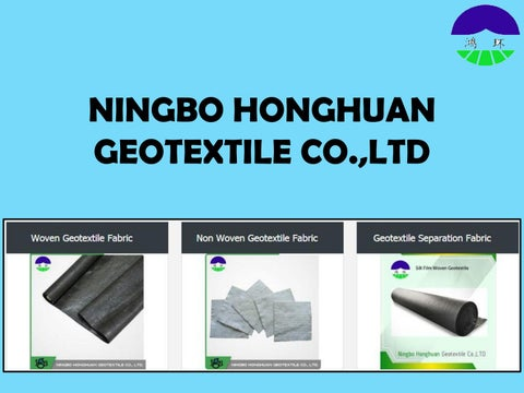 Non Woven Geotextile Fabric at Ningbo Honghuan Geotextile by