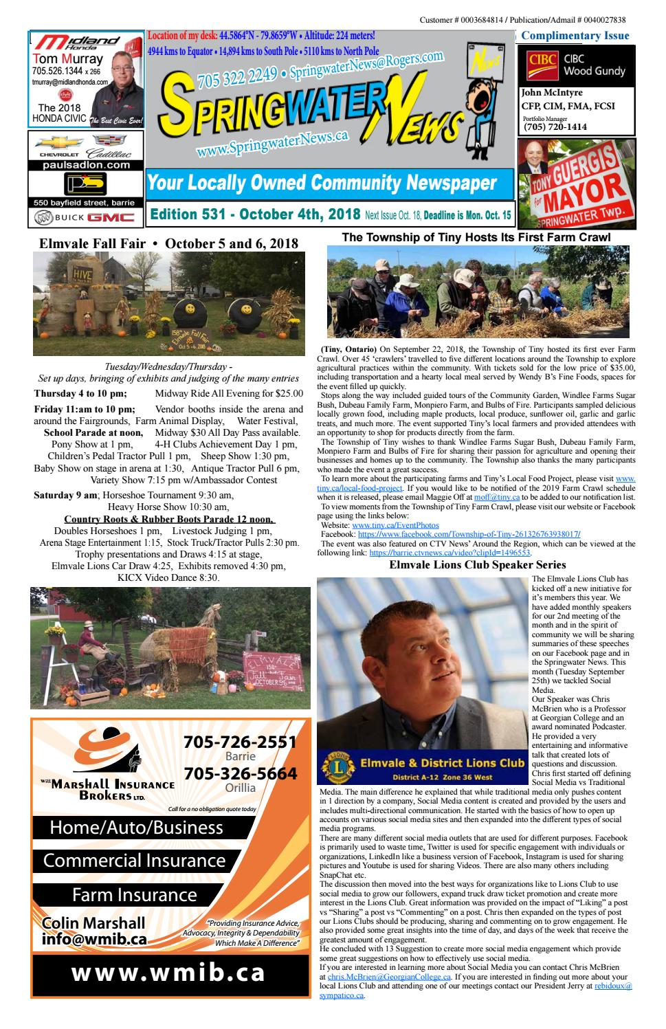 9106c2ca190 Springwater News by Springwater News - issuu