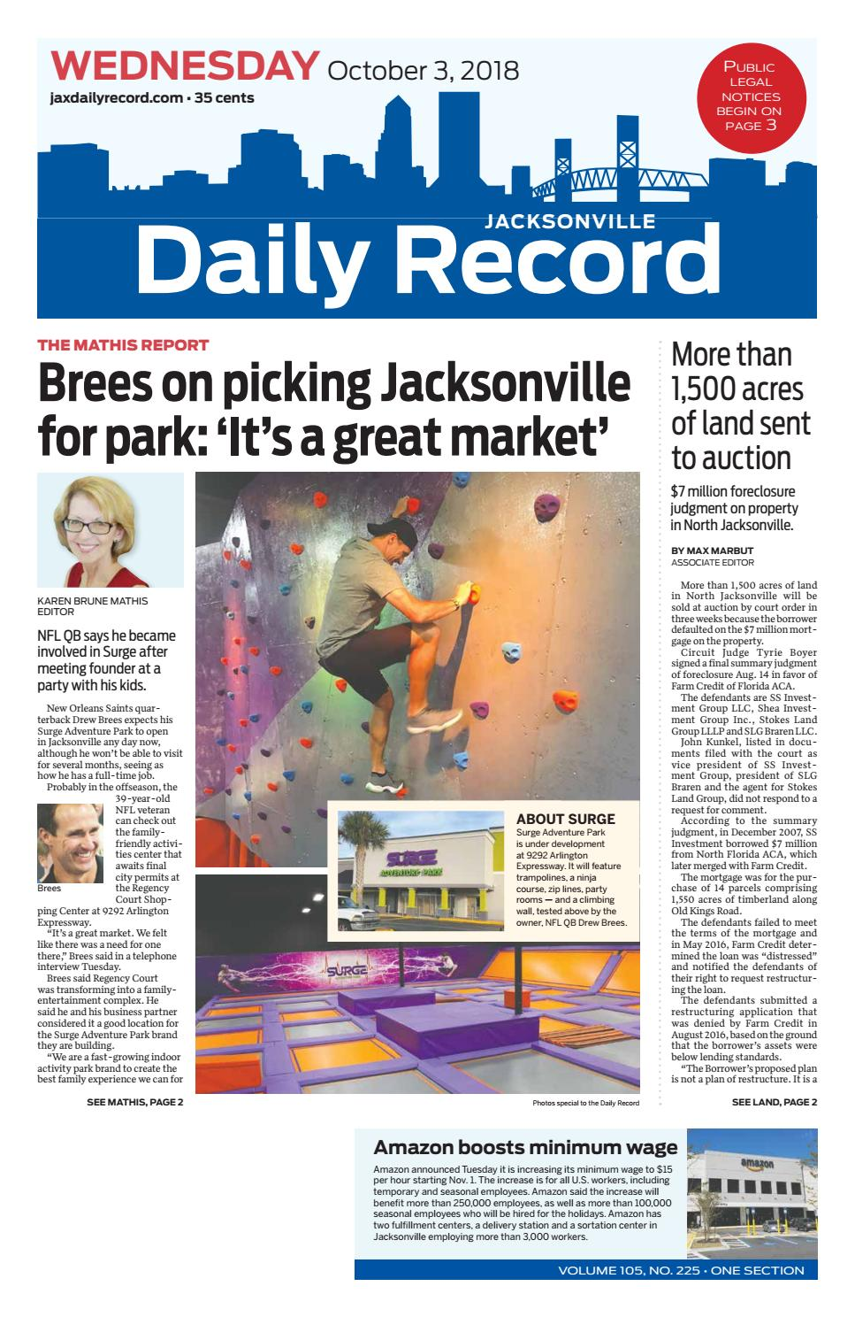 Vintage Bank Deens Design.Jacksonville Daily Record 10 3 18 By Daily Record Observer Llc