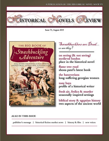 Historical Novels Review Issue 73 August 2015 By The Historical