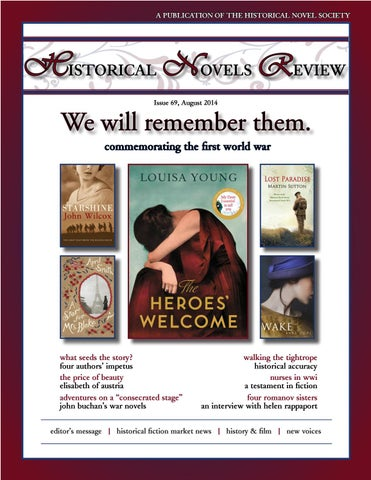 Historical Novels Review Issue 69 August 2014 By The Historical
