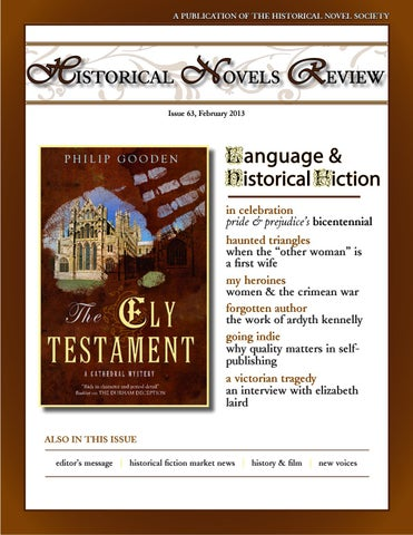 Historical Novels Review Issue 63 February 2013 By The