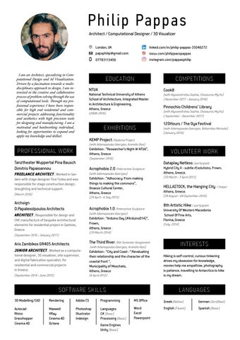 Resume By Philip Pappas Issuu