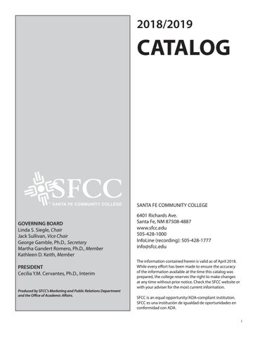 2019 catalog web by Santa Fe Community College - issuu