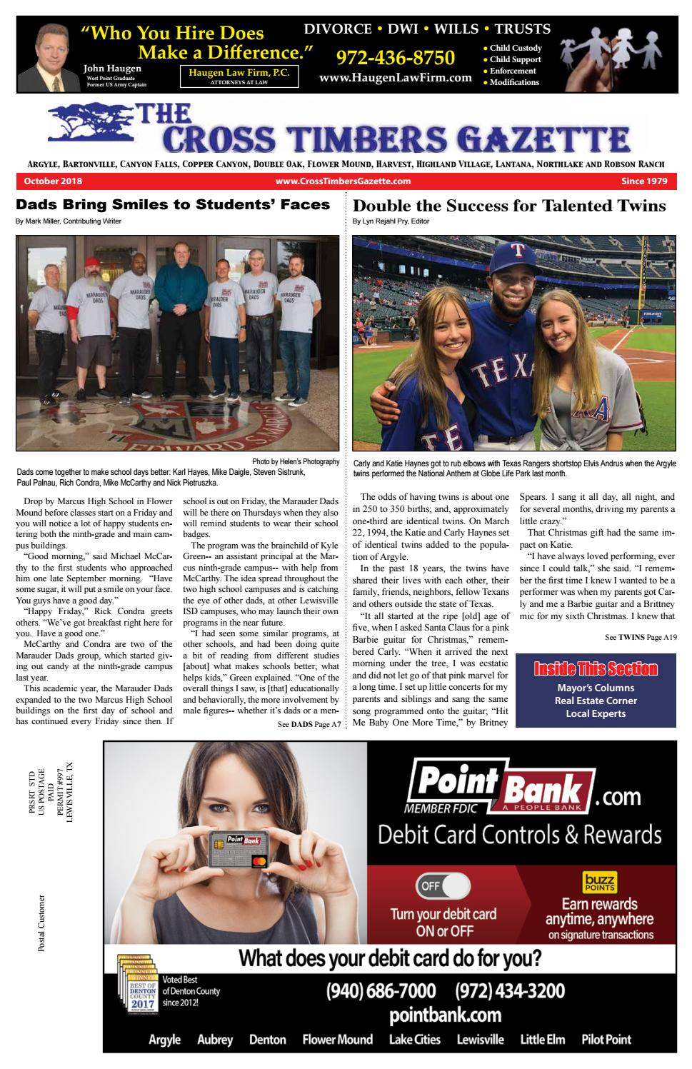 The Cross Timbers Gazette October 2018 by The Cross Timbers