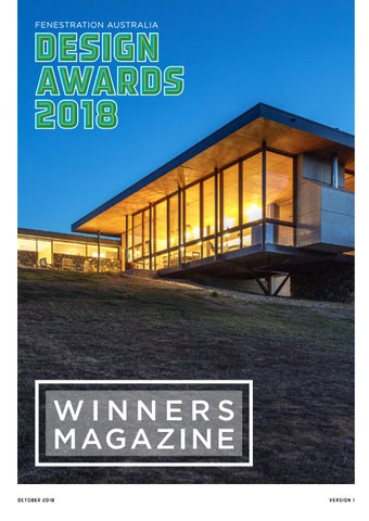 Design Awards 2018 Winners Magazine by Australian Window