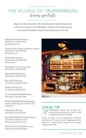 Official Travel Guide to Ithaca & Tompkins County, NY 2017