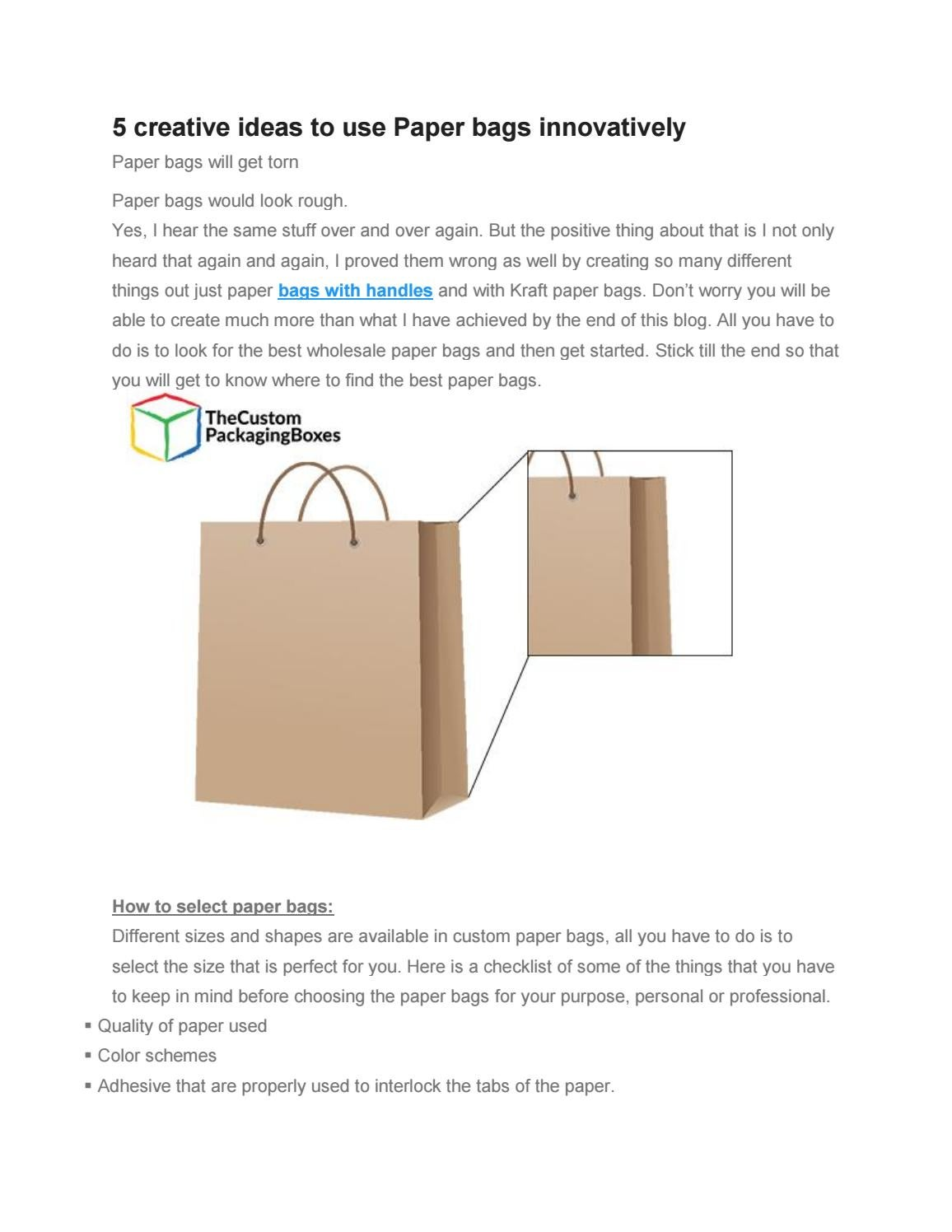 use paper bags to save environment