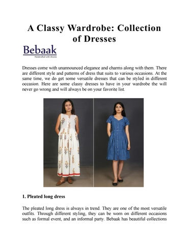 A Classy Wardrobe: Collection of Dresses by BebaakStudio - issuu