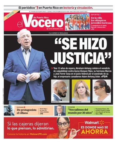 Edicion Del 4 De Octubre De 2018 By El Vocero De Puerto Rico Issuu