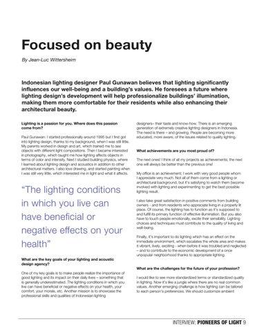 Page 9 of Paul Gunawan, Lighting designer, Pioneer of Light