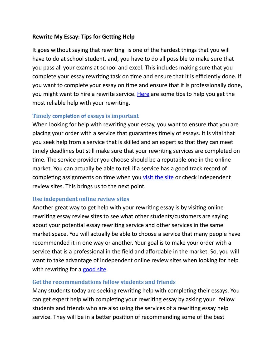 Organic Chemistry Homework Assignment Help  Report Writing Buy also Thesis Examples In Essays Rewrite My Essay Tips For Getting Help By Reword Essay  Issuu How To Write A High School Application Essay