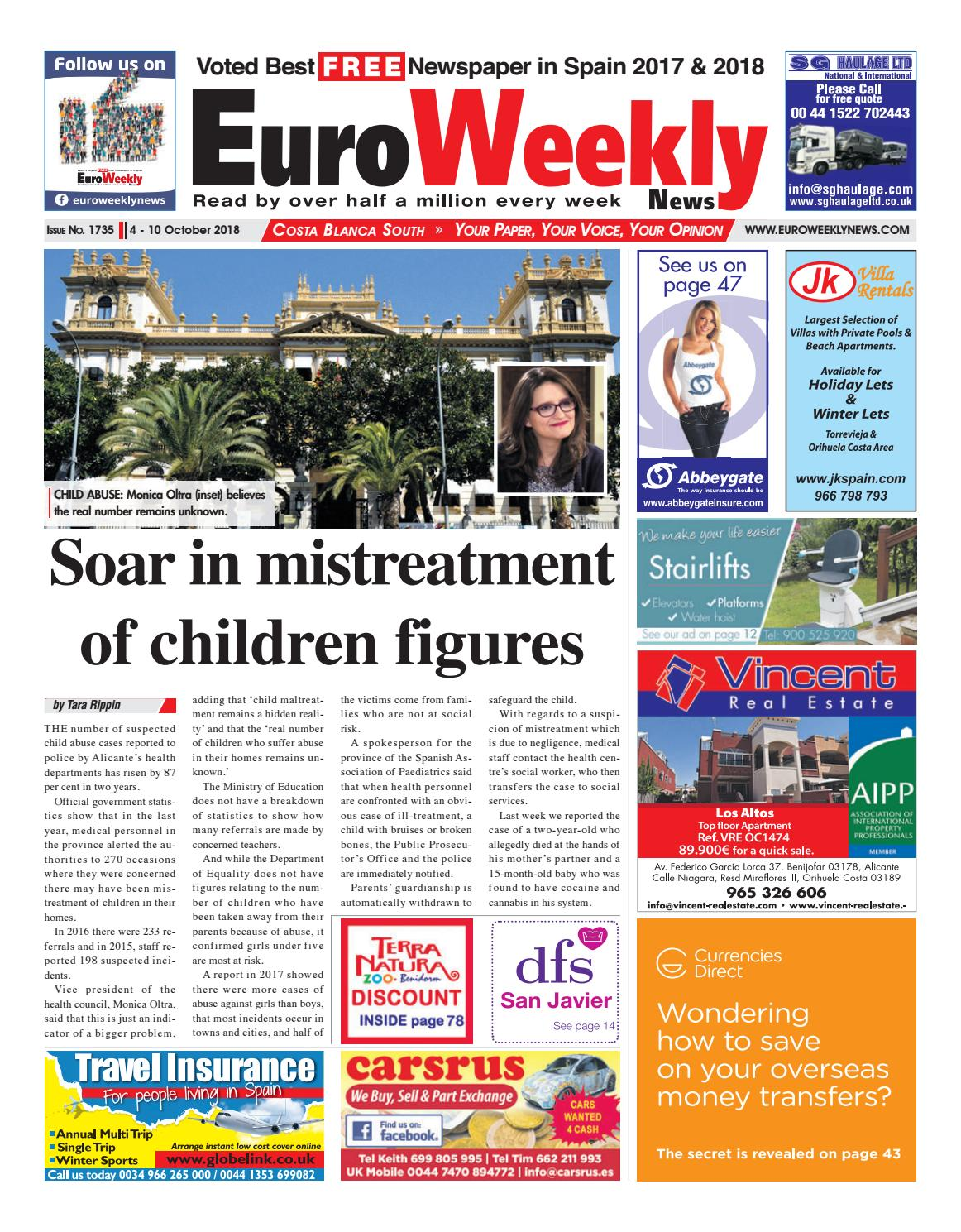 b48b3966ce60d1 Euro Weekly News - Costa Blanca South October 4 - 10 2018 Issue 1735 by  Euro Weekly News Media S.A. - issuu