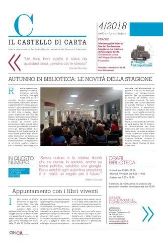 Castello di Carta n 4 - settembre/ottobre 2018 by Comune di