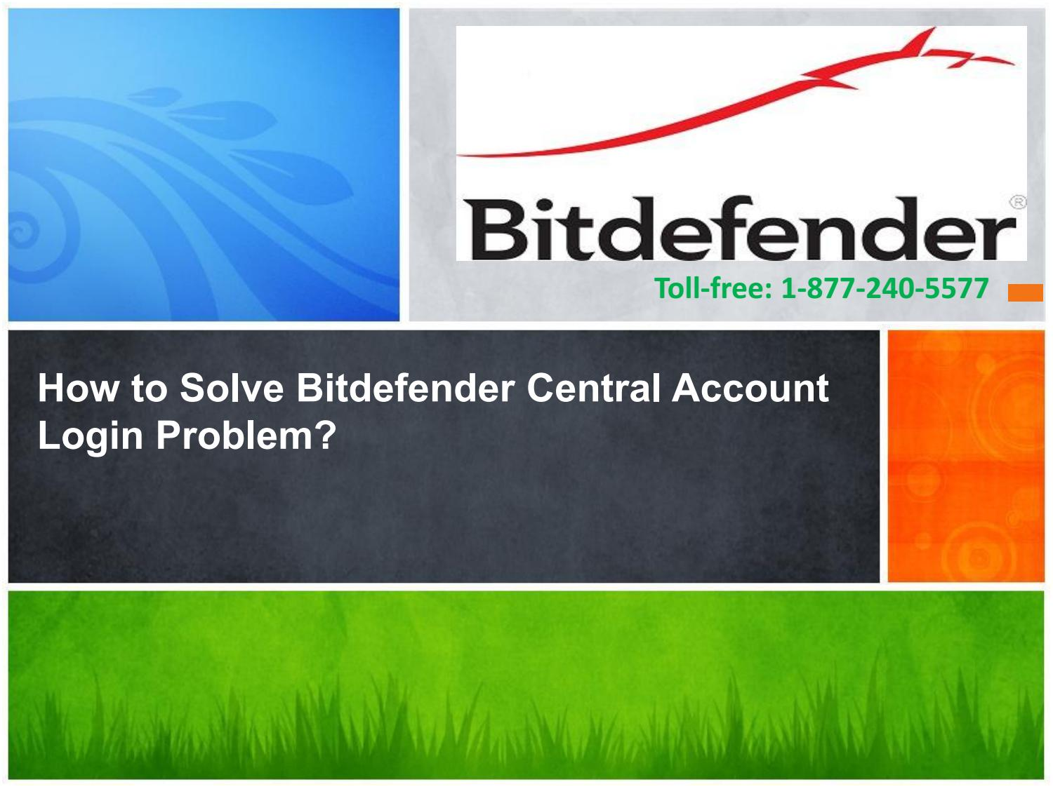 How to Solve Bitdefender Central Account Login Problem by