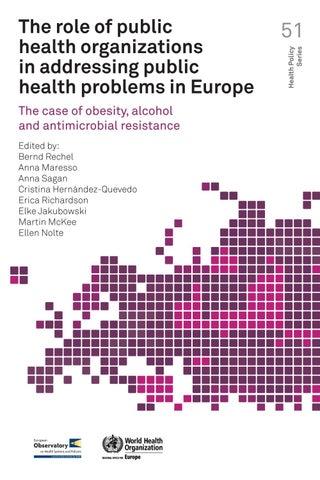 The role of public health organizations in addressing public health