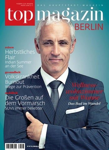 Top Berlin Herbstausgabe 2018 By Top Magazin Issuu