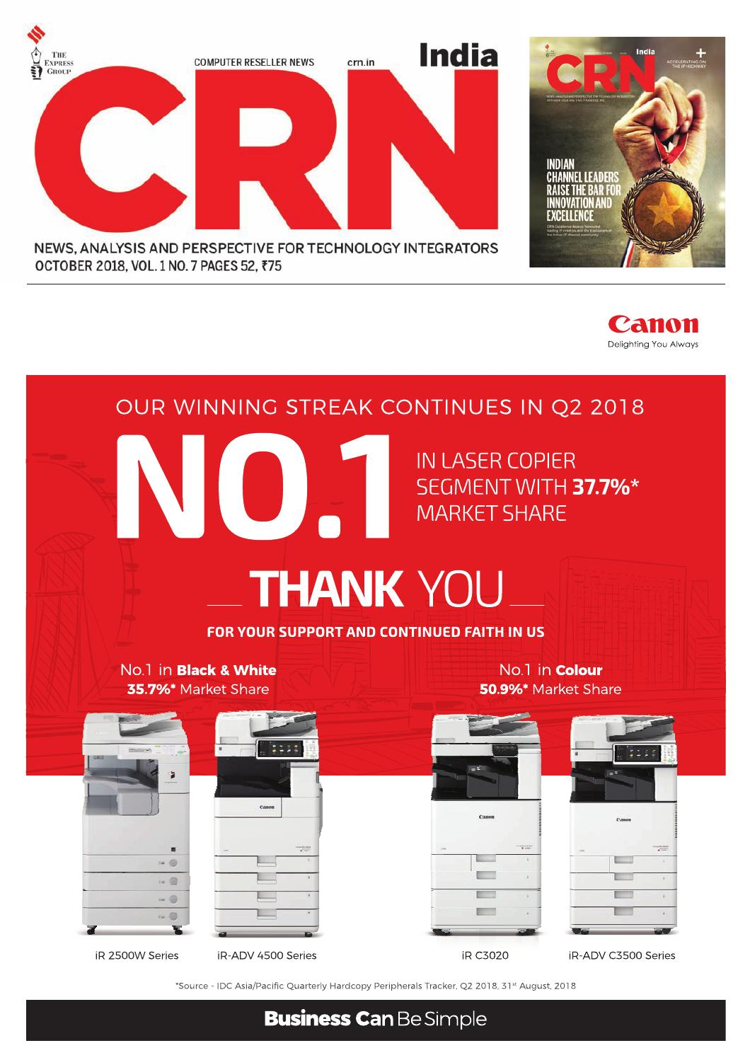CRN India (Vol 1, No 7) October, 2018 by Indian Express - issuu