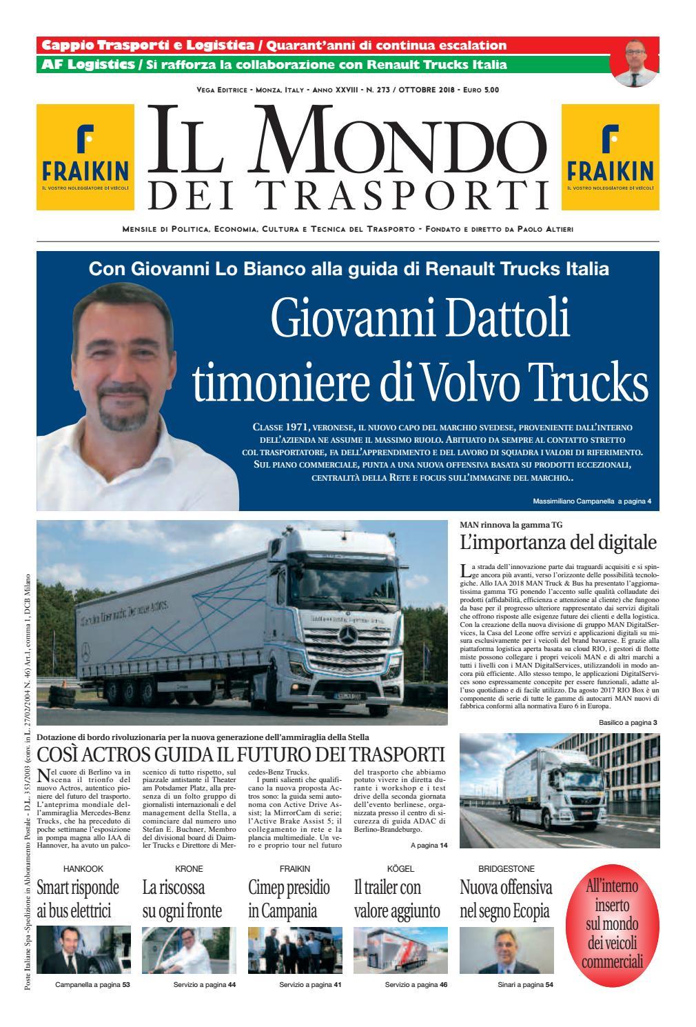 Il Mondo dei Trasporti - Ottobre 2018 by Vega Editrice - issuu a4f7782b387