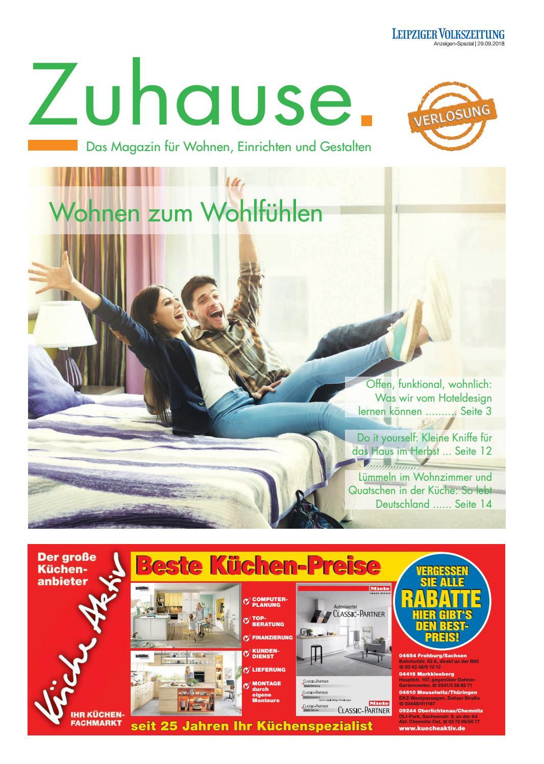 Zuhause September 2018 Das Magazin Fur Wohnen Einrichten Und
