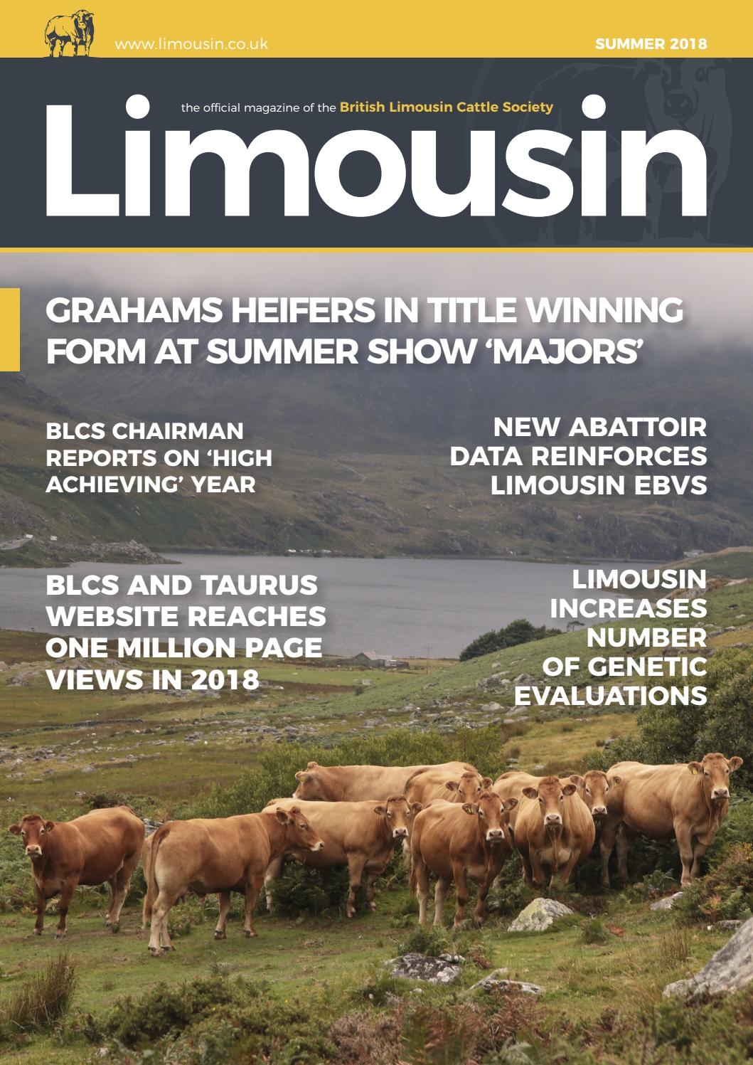 Blcs Summer 2018 Magazine By British Limousin Cattle Society