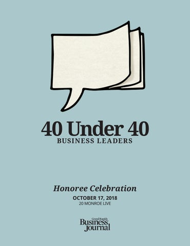 40 Under 40 Business Leaders 2018 Grbj By Grand Rapids