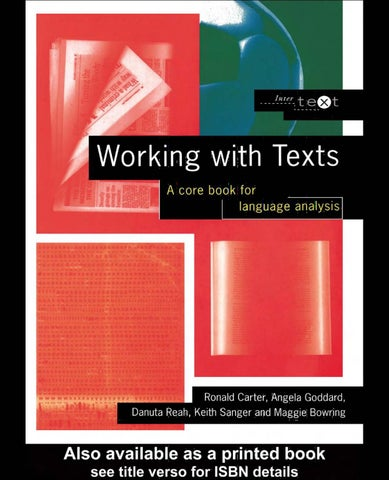 Working With Texts By Natasa Milivojevic Issuu