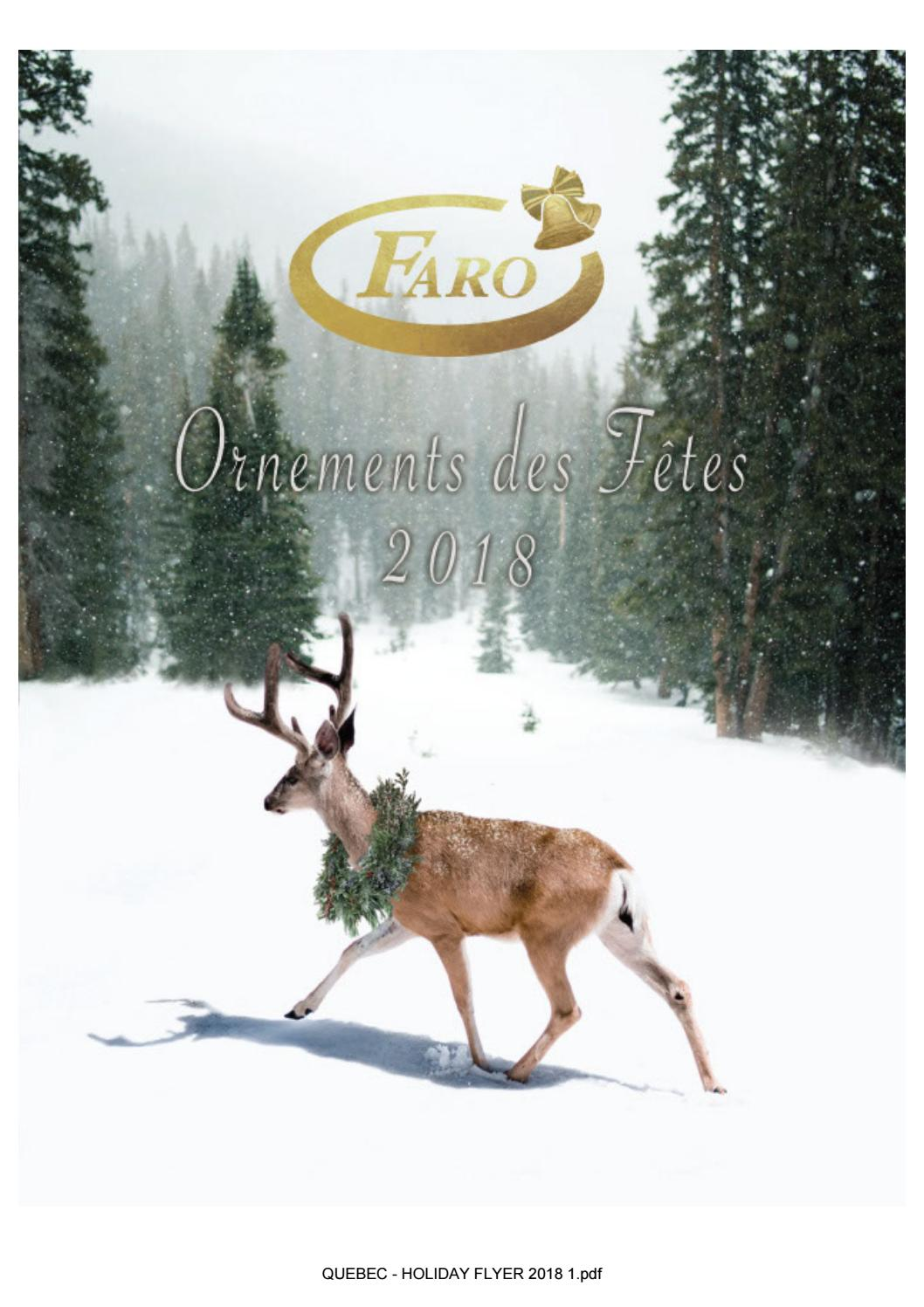 FARO'S HOLIDAY FLYER 2018 (FRENCH CANADIAN!) by faroproducts1 - issuu
