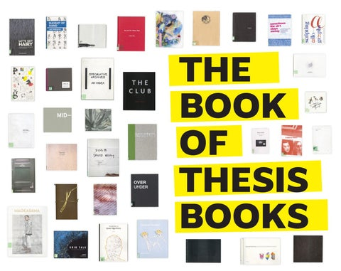 The Book of Thesis Books by Rhode Island School of Design - issuu