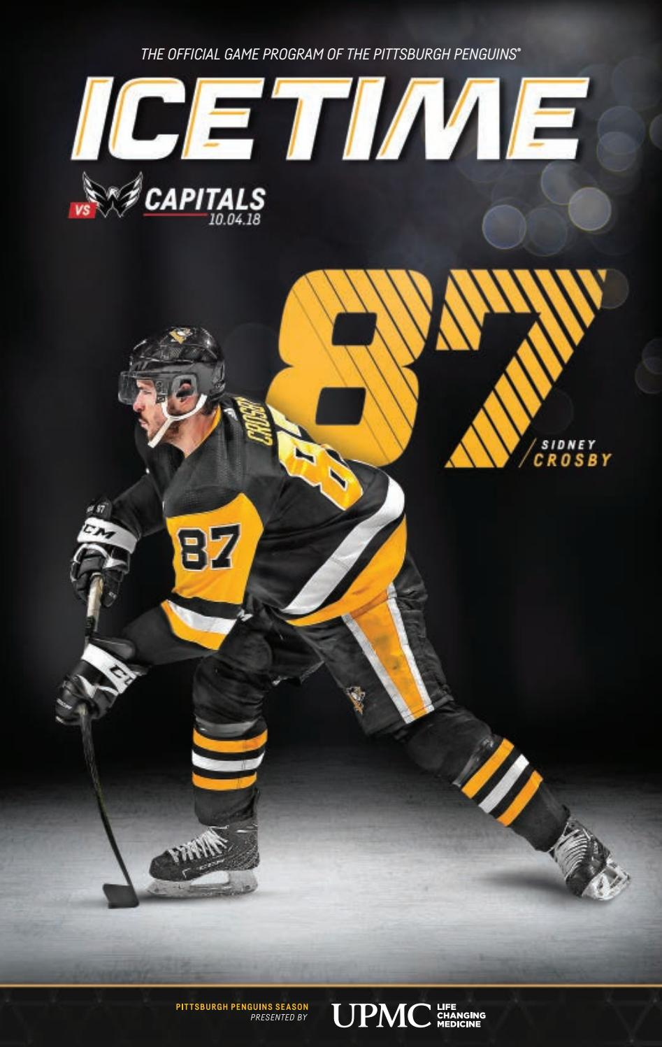 Icetime Game 1 Vs Washington Capitals 10 04 18 By Pittsburgh Penguins Issuu
