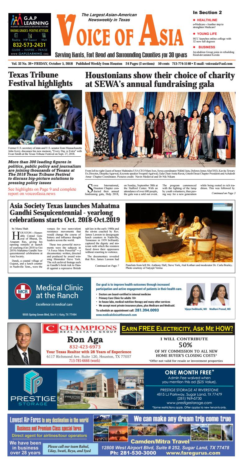 Voice of Asia E-paper October 5, 2018 by VoiceOf Asia - issuu