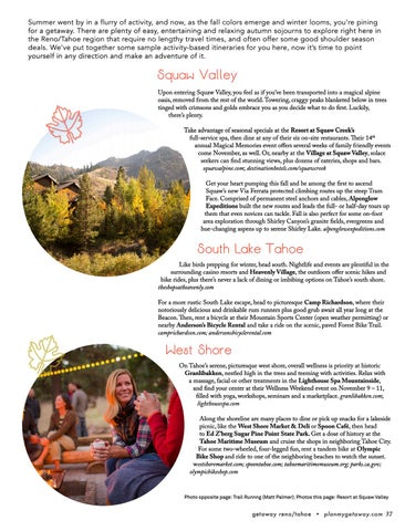 Page 37 of Autumn Getaways in Reno/Tahoe