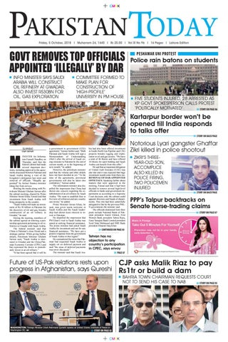 E-Paper PDF 5 October 2018 (LHR) by Pakistan Today - issuu