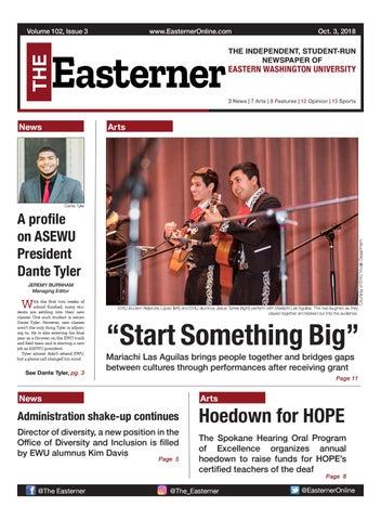 The Easterner: Volume 102, Issue 3 by Easterner Online - issuu