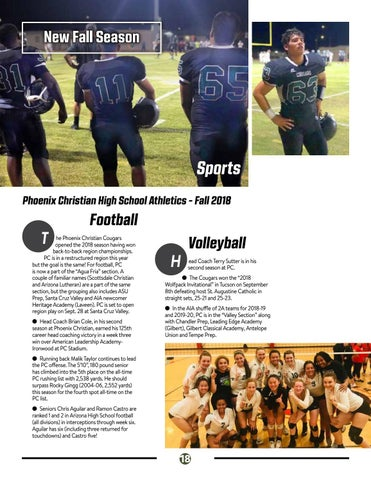 Page 18 of Fall Sports at PC!
