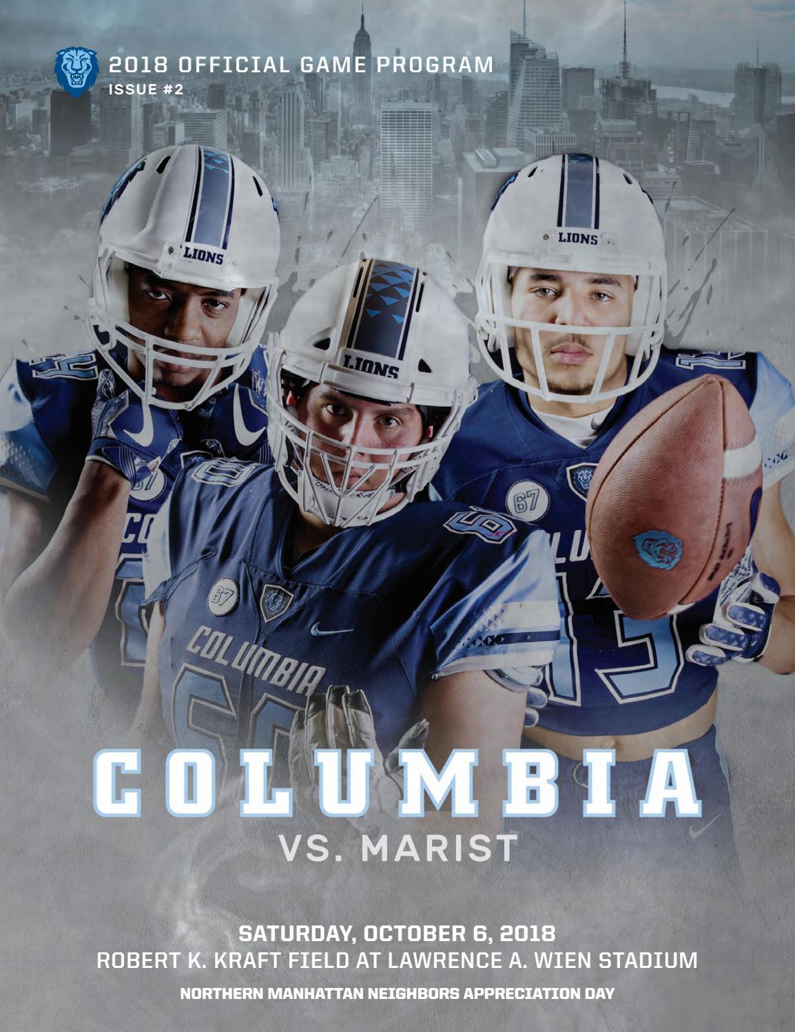 Columbia Football Game Program (Oct. 6 f5f962f0f