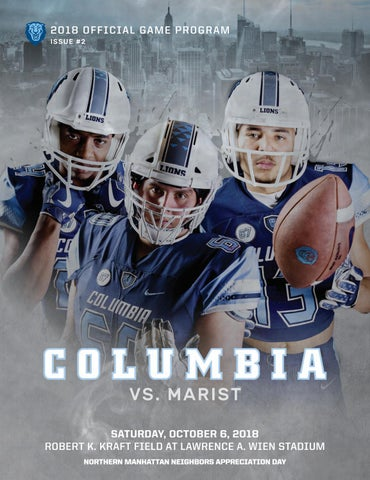 55ed0177 Columbia Football Game Program (Oct. 6, 2018) by Columbia University ...