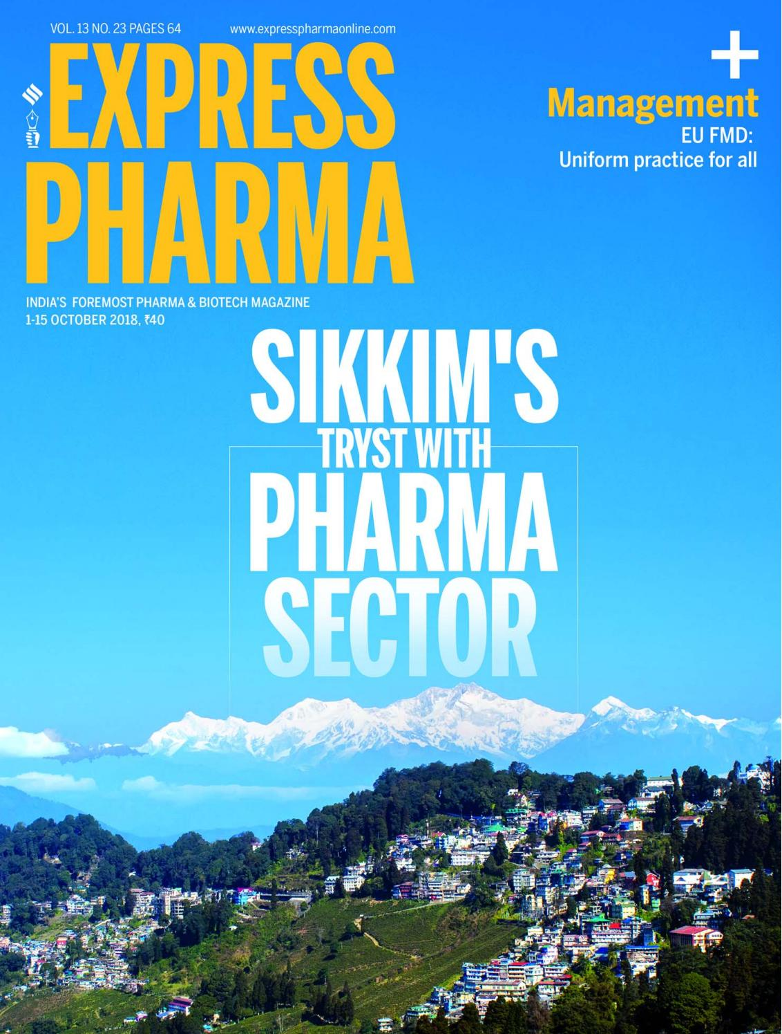 Express Pharma (Vol 13, No 23) October 01-15, 2018 by Indian