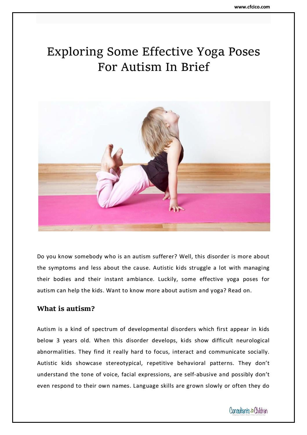 Exploring Some Effective Yoga Poses For Autism In Brief Cfcico By Cfcico Issuu