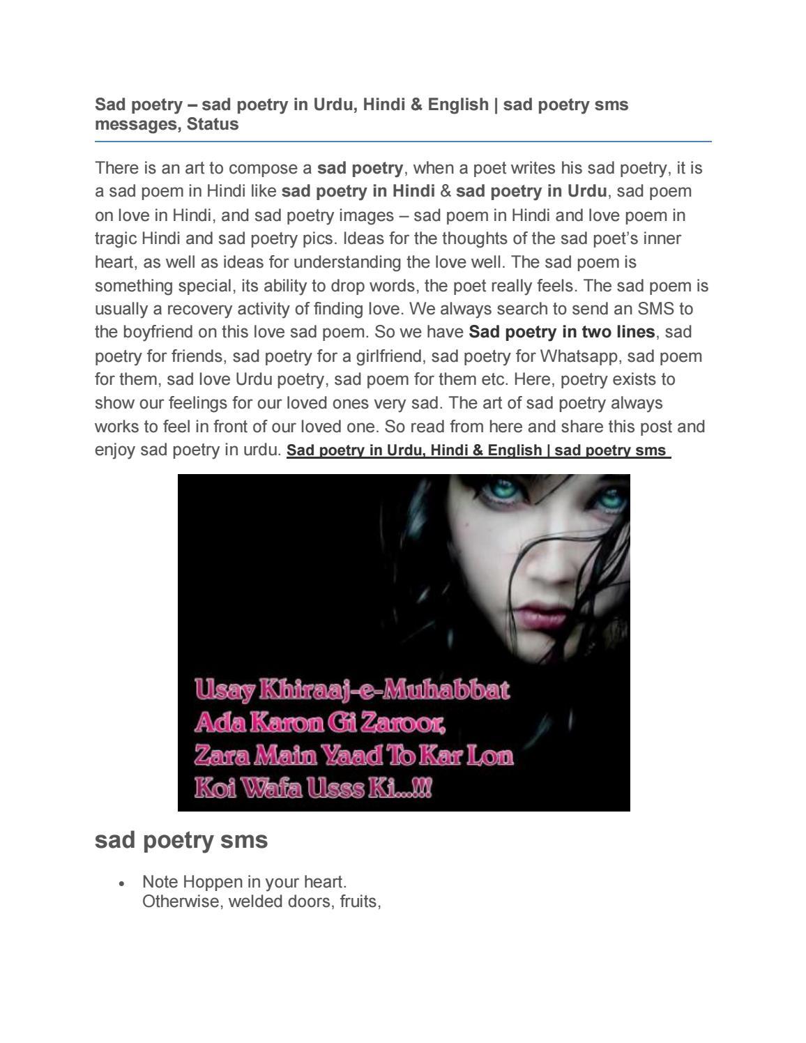 sad poetry sms - Sad poetry – sad poetry in Urdu, Hindi