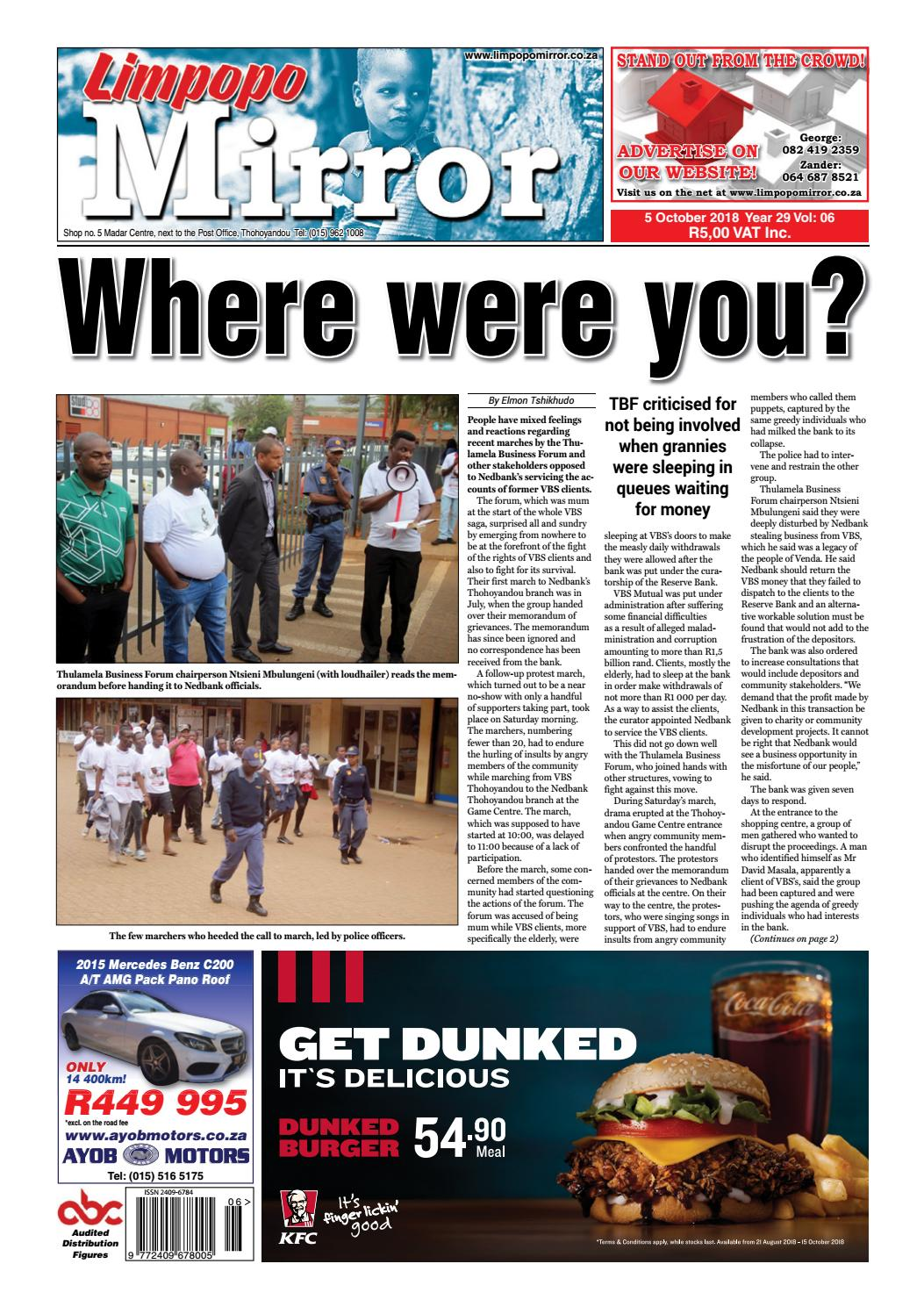 5 October 2018 Limpopo Mirror By Zoutnet Issuu Circuit Breakers Witbank O Olxcoza