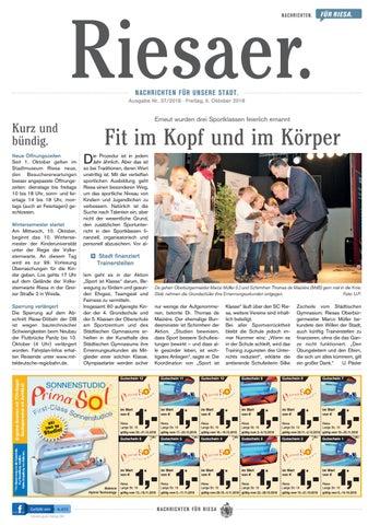 Kw 372018 Der Riesaer By Stadtverwaltung Riesa Issuu